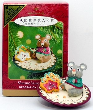 2001 Sharing Santa's Snacks *Colorway Hallmark Keepsake Ornament QX8212C