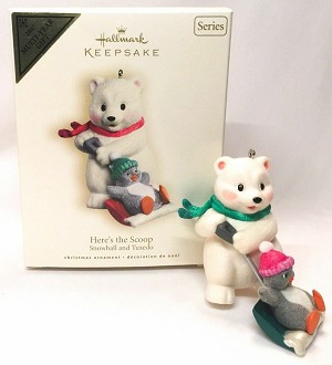 2007 Snowball and Tuxedo 7th - Here's the Scoop Hallmark Keepsake Ornament QX7139
