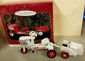 1998 Kiddie Car-Tractor & Trailer *Colorway/Repaint *Signed Hallmark Keepsake Ornament Color1695QX637C