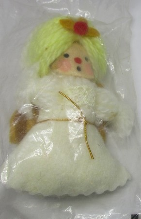 1974 Yarn Angel (Gold Wings) Hallmark Keepsake Ornament 150QX103-1