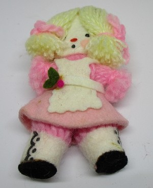 1973 Yarn Little Girl Pink Hallmark Keepsake Ornament 125XHD82-5