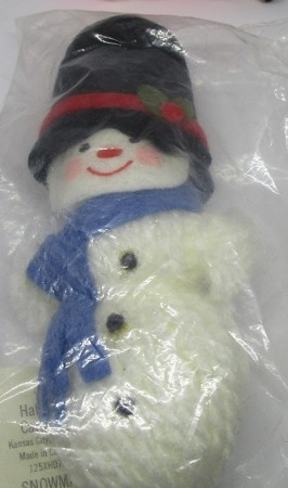 1973 Yarn Mr. Snowman  Hallmark Keepsake Ornament 125XHD76-5